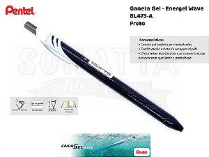 Caneta PENTEL Energel Wave Preta - BL437A