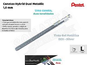 Caneta PENTEL Hybrid Dual Metallic Prata - K110-DZX