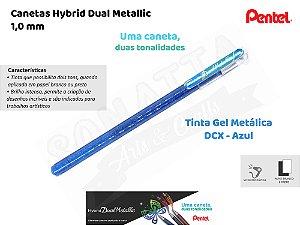 Caneta PENTEL Hybrid Dual Metallic Azul + Verde Metálico - K110-DCX