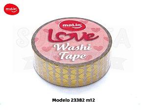 Washi Tape MOLIN Love Avulsa Modelo 12 - 23382