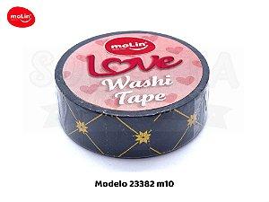 Washi Tape MOLIN Love Avulsa Modelo 10 - 23382