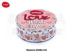 Washi Tape MOLIN Love Avulsa Modelo 9 - 23382