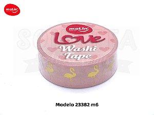 Washi Tape MOLIN Love Avulsa Modelo 6 - 23382