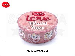 Washi Tape MOLIN Love Avulsa Modelo 4 - 23382