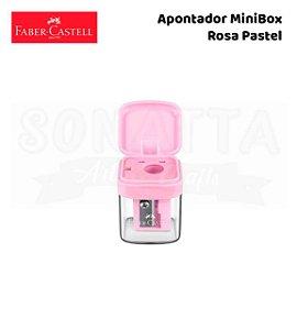 Apontador FABER-CASTELL com Depósito MiniBox - Rosa Pastel