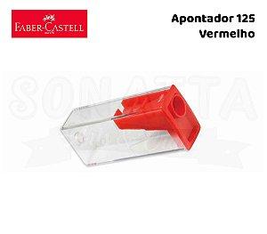 Apontador FABER-CASTELL com Depósito 125LVZF - Vermelho