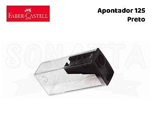 Apontador FABER-CASTELL com Depósito 125LVZF - Preto