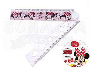 Régua Dobrável Molin Disney Minnie 30cm 22395 - Rosa Claro