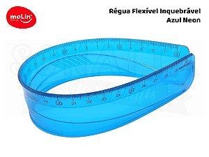 Régua Flexível Molin 30cm 11063 - Azul Neon