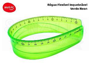 Régua Flexível Molin 30cm 11063 - Verde Neon