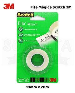 Fita Adesiva Mágica Scotch 3M Blister 19mm x 20m - HB004544811