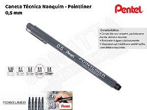 Caneta Técnica Nanquim PENTEL Pointliner 0.5mm – 5ATH