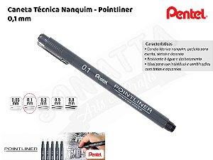Caneta Técnica Nanquim PENTEL Pointliner 0.1mm – 1ATH