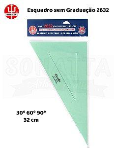 Esquadro TRIDENT Acrílico sem Graduação 60 32cm - 2632