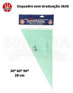 Esquadro TRIDENT Acrílico sem Graduação 60 28cm - 2628