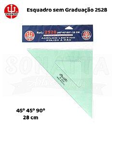 Esquadro TRIDENT Acrílico sem Graduação 45 28cm - 2528