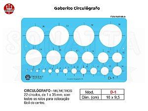 Gabarito TRIDENT Circulógrafo Milímetros D-1