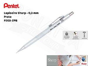 Lapiseira PENTEL Sharp Prata 0.3mm – P203-ZPB