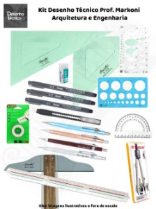 Kit Desenho Técnico Prof. Markoni - Arquitetura e Engenharia