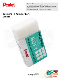 Borracha PENTEL Hi-Polymer Soft Grande - ZES-08E