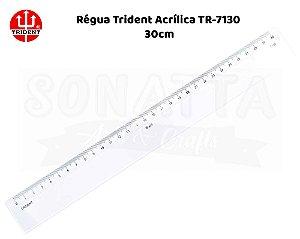 Régua TRIDENT Acrílico 30 cm – 7130