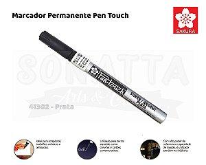 Marcador Artístico Permanente SAKURA Pen Touch 41302 - Prata