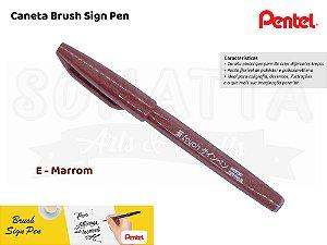 Brush PENTEL Sign Pen Marrom - SES15C-E