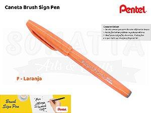 Brush PENTEL Sign Pen Laranja - SES15C-F