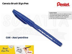 Brush PENTEL Sign Pen Azul Petróleo - SES15C-CAX