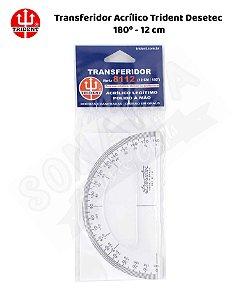 Transferidor Acrílico TRIDENT Desetec 180 graus x 12cm – 8112