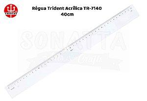 Régua TRIDENT Acrílico 40 cm – 7140