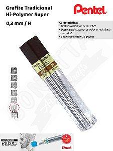 Grafite/Mina PENTEL Hi-Polymer 0,3mm H – 300H