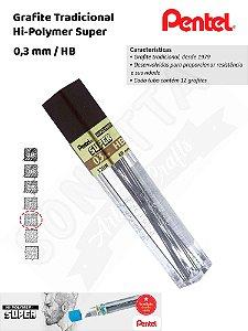 Grafite/Mina PENTEL Hi-Polymer 0,3mm HB – 300HB