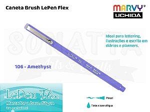 Marcador Artístico Marvy Uchida Ponta Pincel Le Pen Flex 4800106 - Amethyst