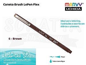 Marcador Artístico Marvy Uchida Ponta Pincel Le Pen Flex 48006 - Brown