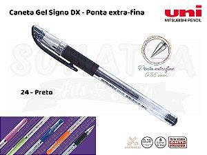 Caneta Uni-ball Signo DX 0,38mm UM-151 - Preto 24