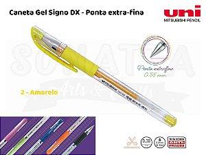 Caneta Uni-ball Signo DX 0,38mm UM-151 - Amarelo 2