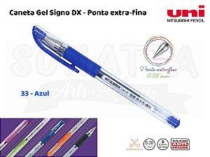 Caneta Uni-ball Signo DX 0,38mm UM-151 - Azul 33