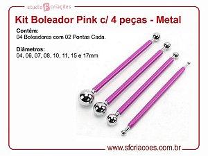 Kit Boleador Pink c/ 4 peças - Metal