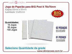 Jogo de papelão para BIG Post-it 76x76mm