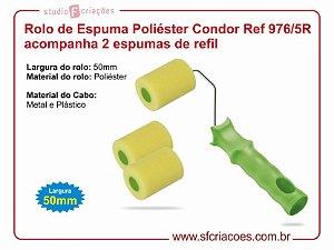 Rolo de Espuma Poliéster Condor Ref 976/5R acompanha 2 refis