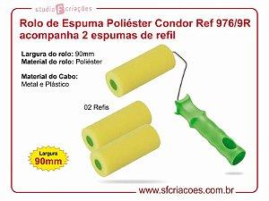 Rolo de Espuma Poliéster Condor Ref 976/9R acompanha 2 refis