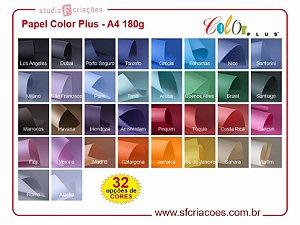 Papel Color Plus A4 180g - Pct c/20 fls