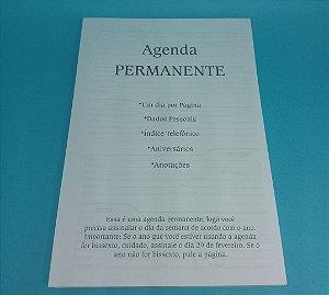"""05 Kit Agenda Executiva PERMANENTE (miolo + papelão + bolsa canguru + wire-o 2x1 1"""")"""