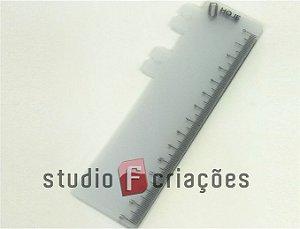 10 Réguas Marca-página em PP (plástico polipropileno)