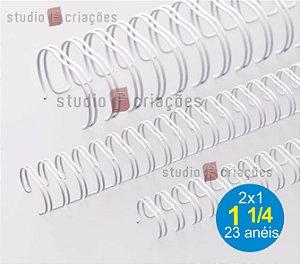 Wire-o 1 1/4 de polegada - Branco
