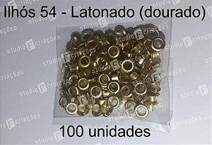 100 Ilhos 54 cor dourada