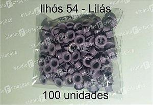 100 Ilhos 54 cor lilas