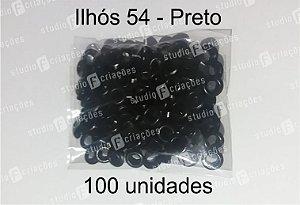 100 Ilhos 54 cor preta