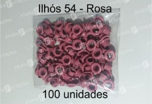 100 Ilhos 54 cor rosa
